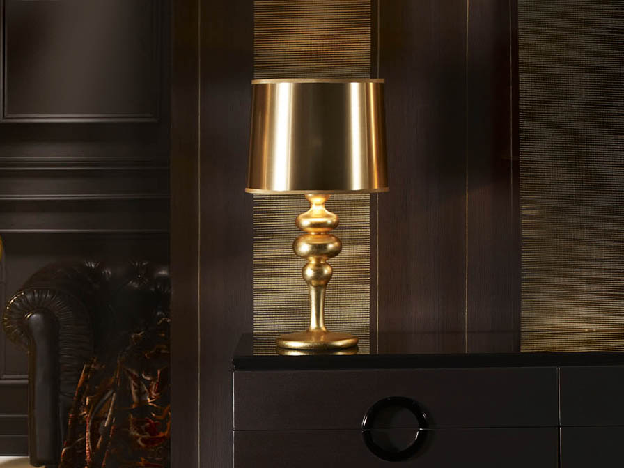 Lena Table Lamp Small 50x26cm 1xE27 LED 5,5W - Pan of Gold