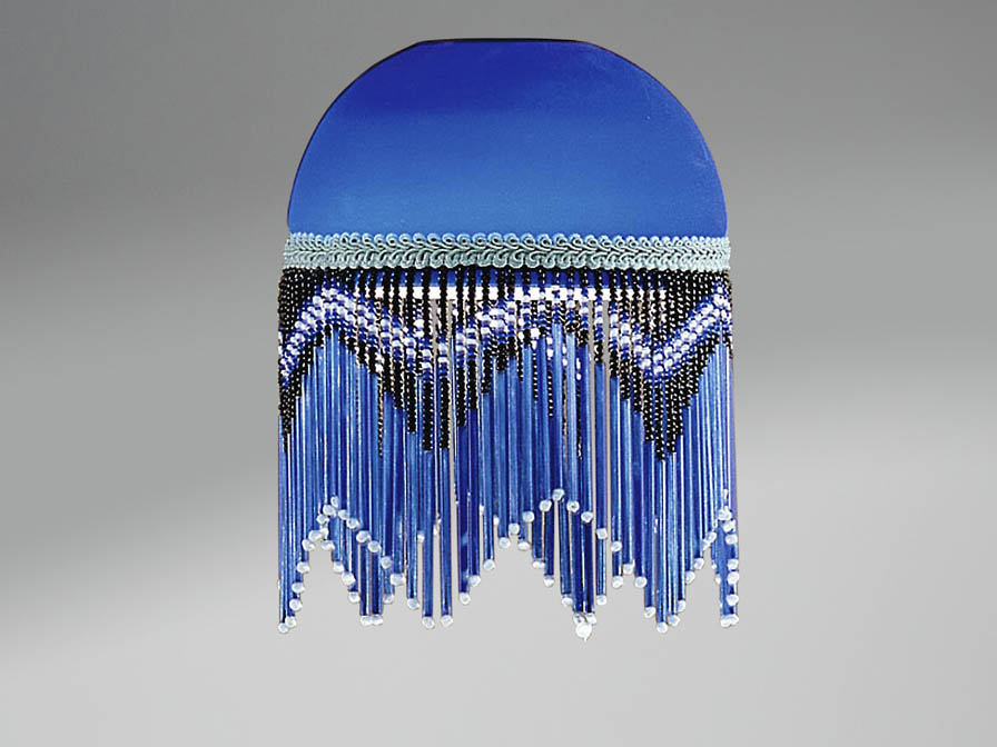 Accessorio paralume Fleco Blu Buio 13,8cm
