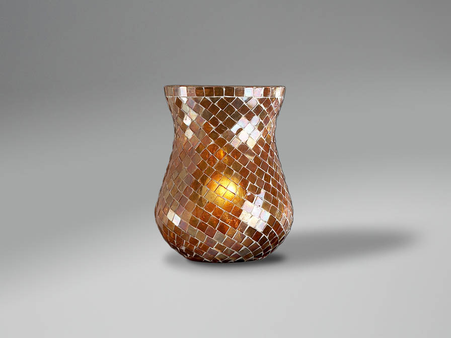 lampshade mosaic Copper