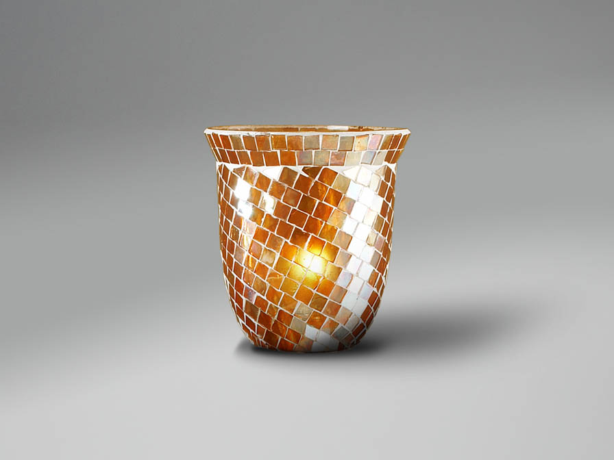 lampshade mosaic dome orange