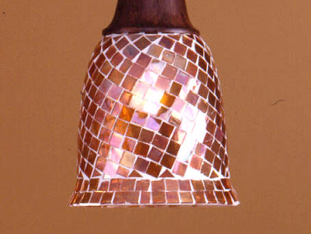 lampshade mosaic dome Brown