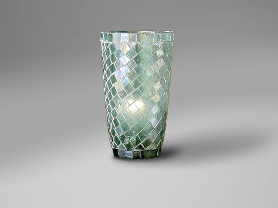 lampshade mosaic conical Aqua