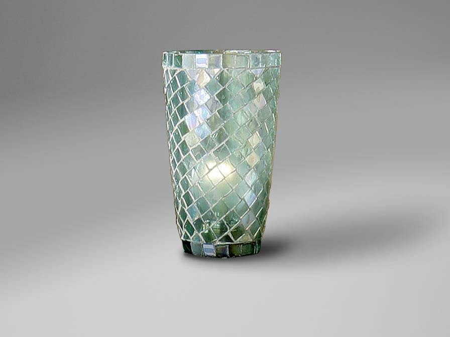 abat-jour mosaïque conique Aqua