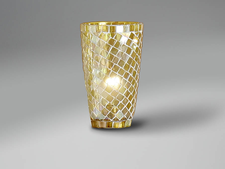 Accessory lampshade mosaic conical Yellow