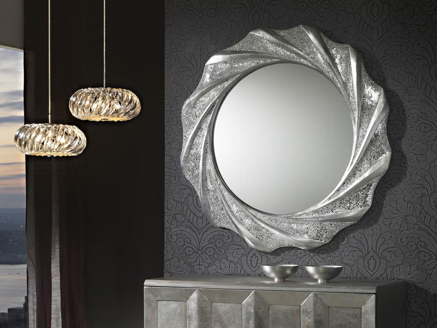 Gaudi miroir Ronde 97x97cm - Feuille d´argent