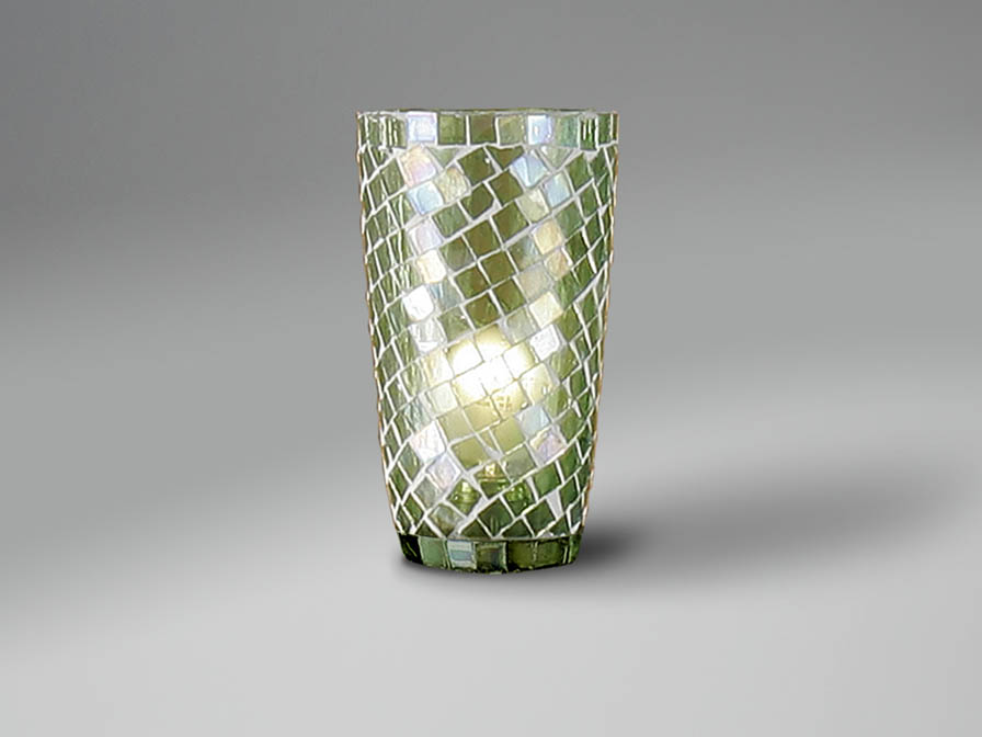 Accessory lampshade mosaic conical Green
