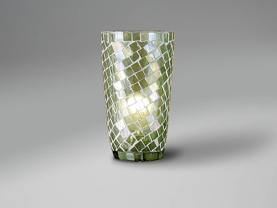 Accessorio paralume mosaico conico Verde