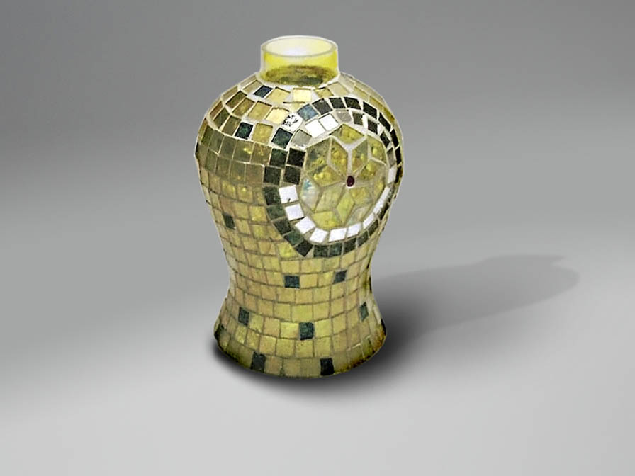 lampshade mosaic Espejitos Yellow