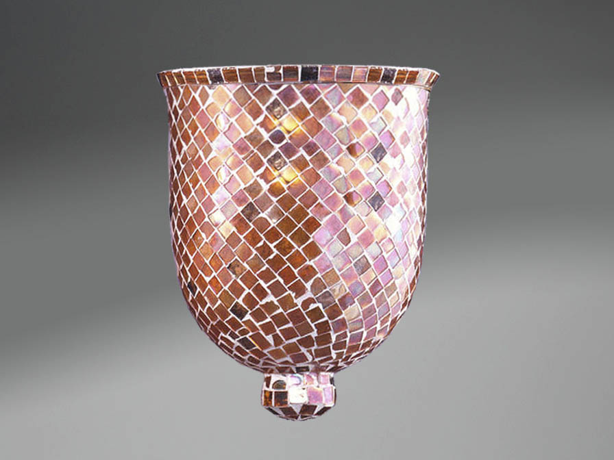 Accesorio tulipa Mosaico Cristal Cobre Pequeño