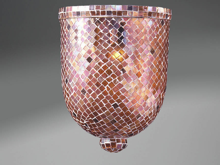Accessory lampshade mosaic Glass Copper Large