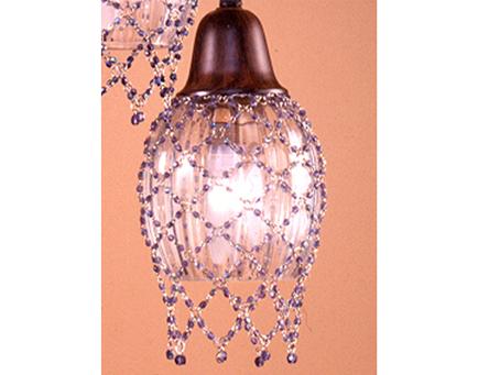 lampshade Clásica net Bolitas Blue