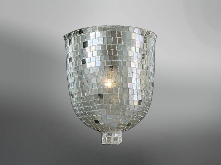 Accessory lampshade mosaic Glass Silver Small
