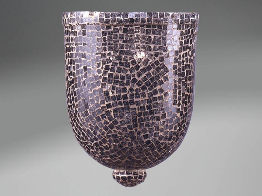 Accessorio paralume mosaico Vetro Nero Grande