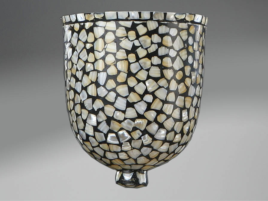 Accessory lampshade mosaic Glass nacre Large