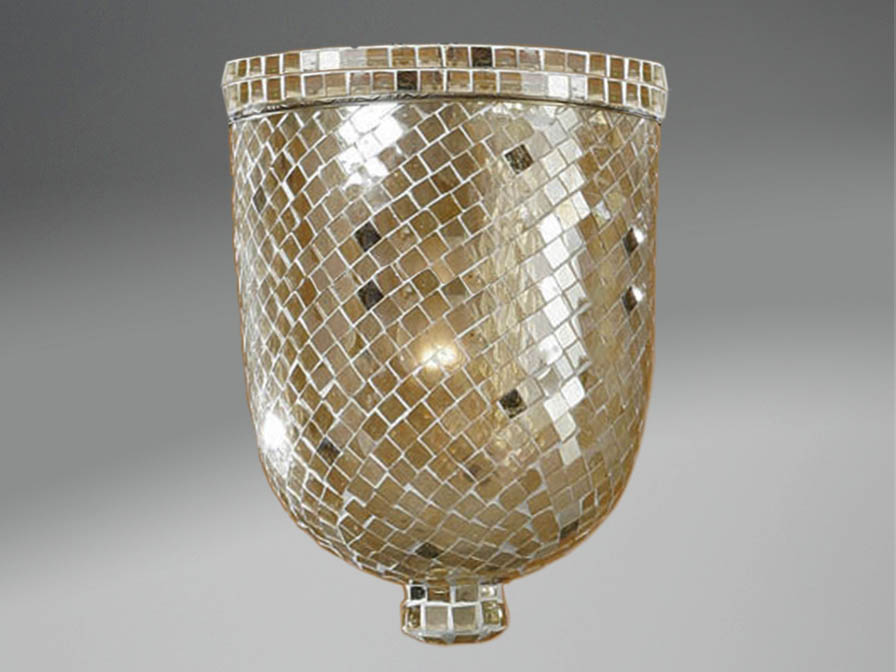 Accessory lampshade Glass Gold Large