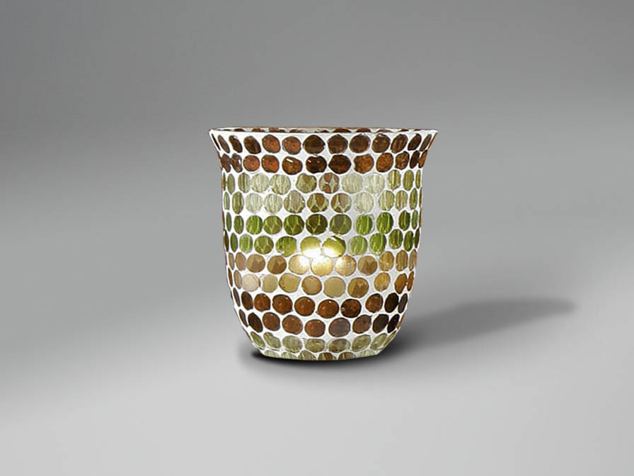 lampshade mosaic Green/Brown