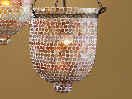 Accessory lampshade mosaic Glass orange Topos Large