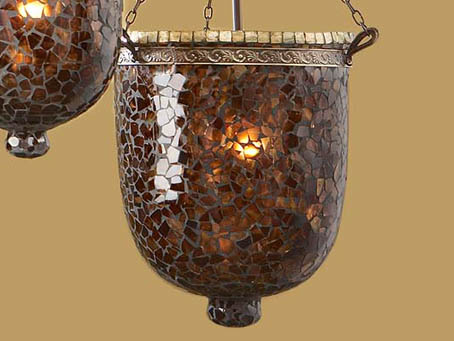 Accessory lampshade mosaic Glass Brown/Oro Large