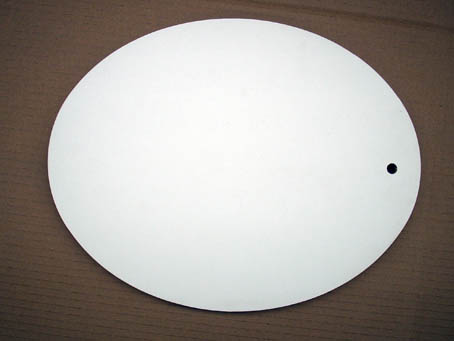 deckel oval weiß melamina