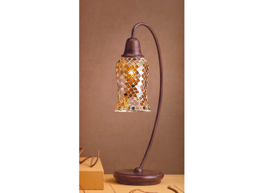 Lluvia Table Lamp 1L oxide forge + lampshade Copper Delgada