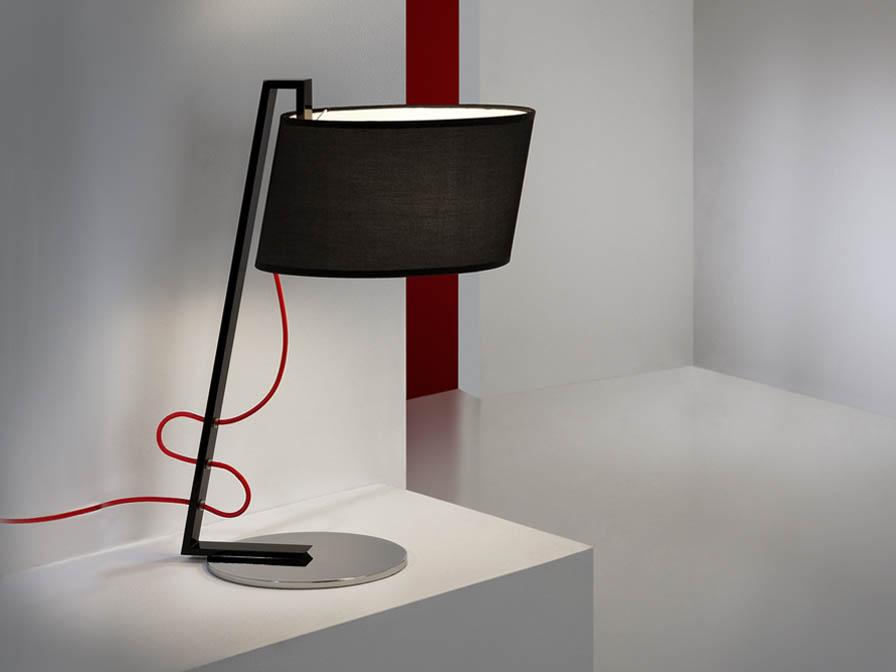 Flow Table Lamp 1L Black Brillo + lampshade black