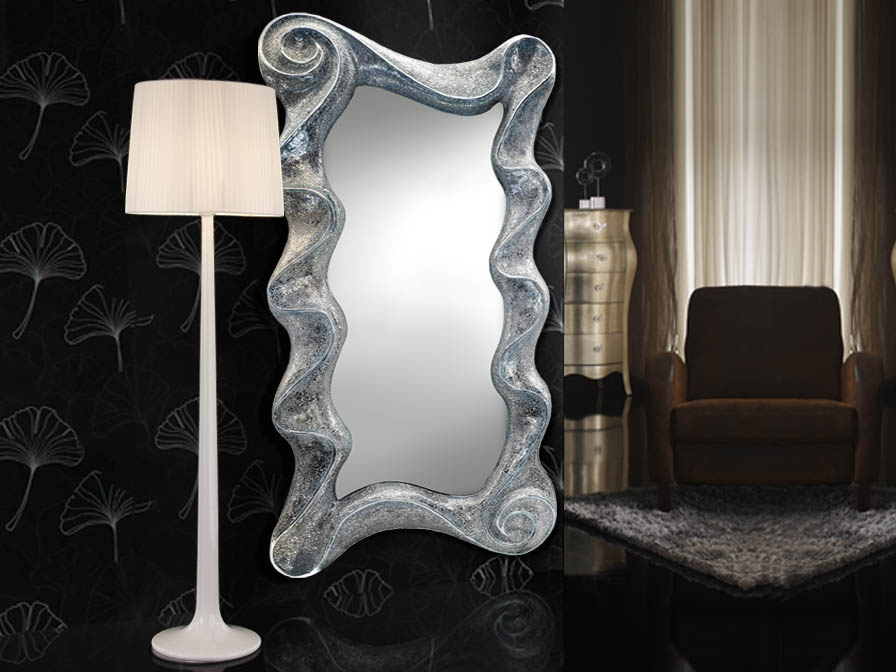 Gaudi spiegel wellen Silber