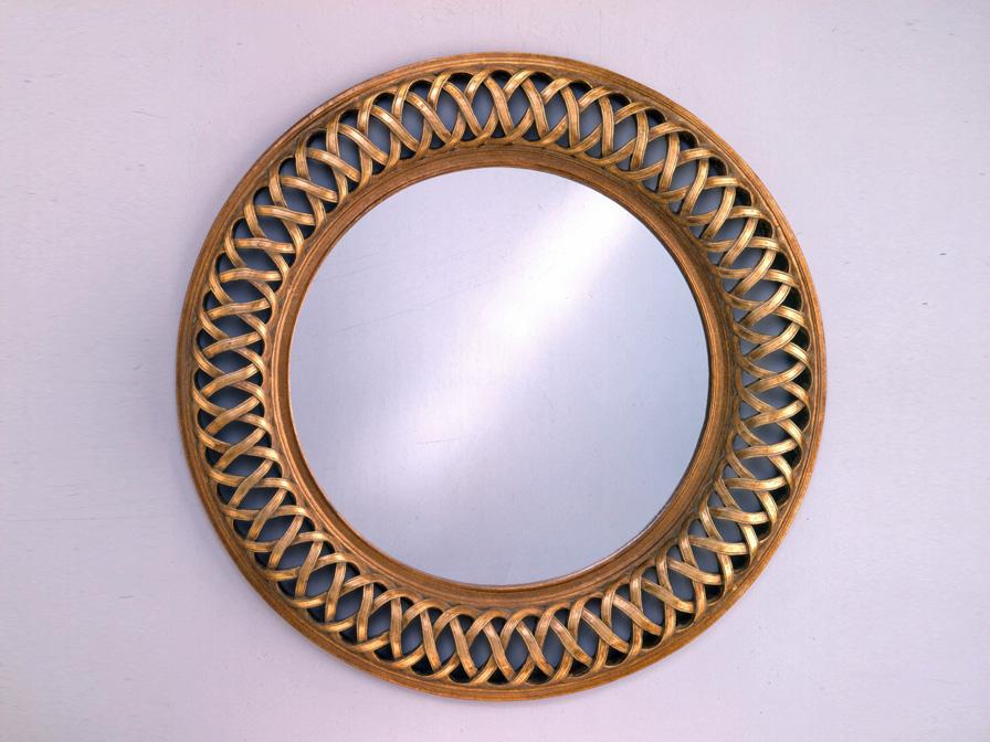 Classic miroir Ronde Calado Feuille d´argent/Oro