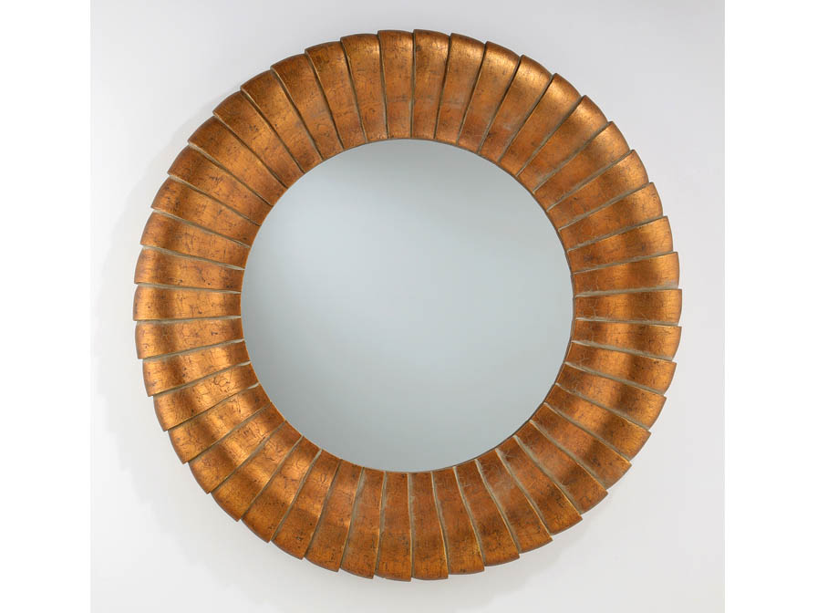 mirror Round Gold Leaf