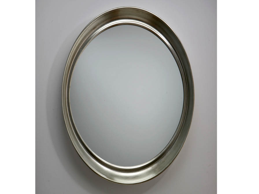 mirror oval Silver Leaf