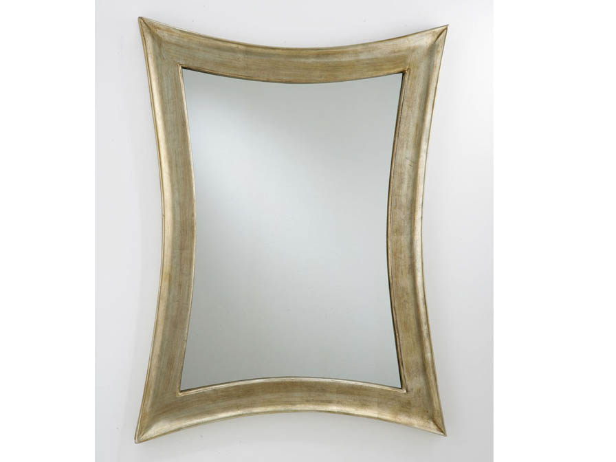 mirror stylized corners Silver Leaf