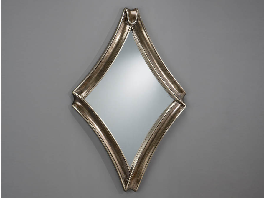 mirror Rombo Silver Antigua Large