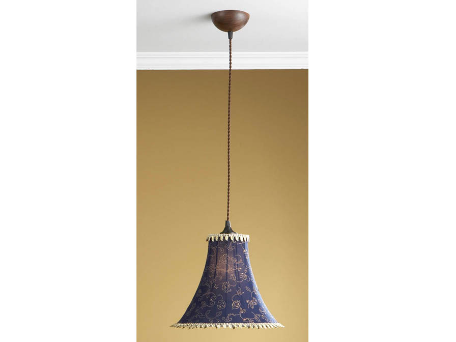 Pendant Lamp 1L xido forge + lampshade Blue with fleco