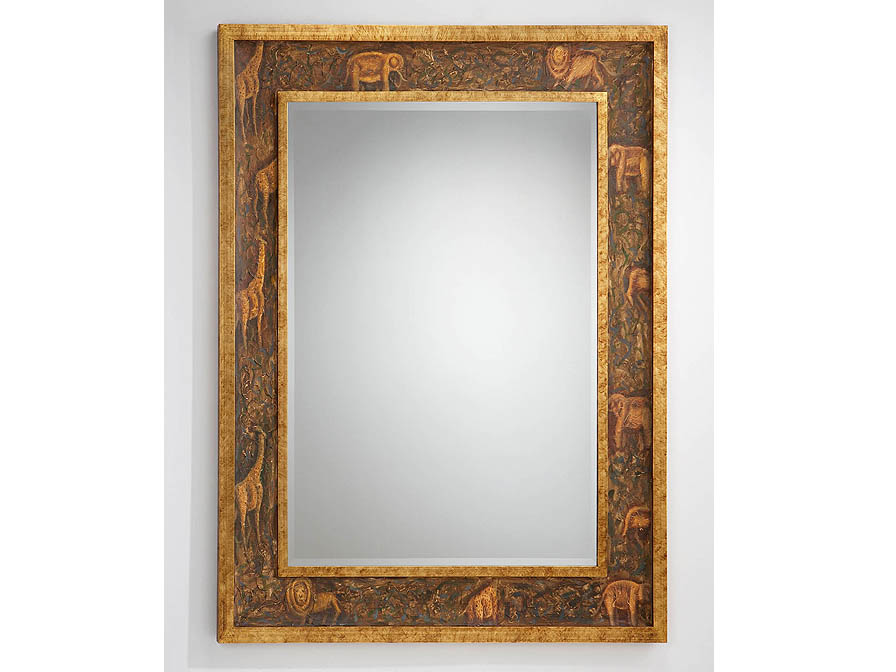 rectangular mirror Framework Golden
