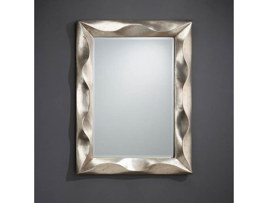 Alboran spiegel rechteckig Rahmen Volumetrico Silberwaschpfanne gealtert 116x86cm