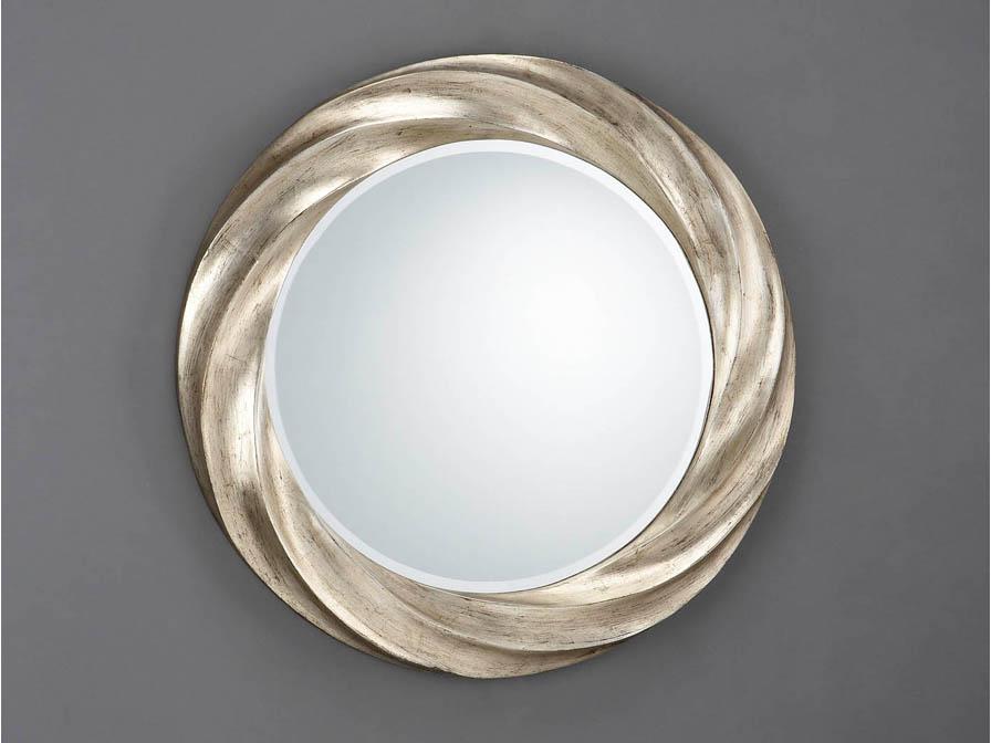Rodas specchio Rotonda Helicoidal ø76 Argento invecchiato
