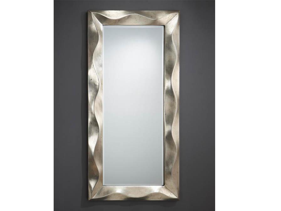 Alboran miroir rectangulaire Cadre Volumetrico Feuille d´argent âgé