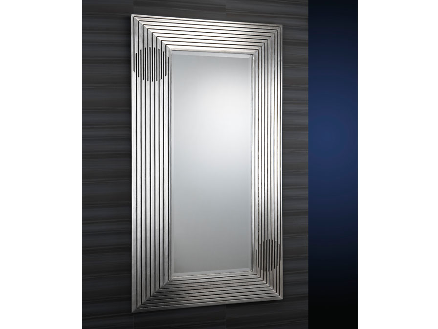 espejo Moldura Estriada Pan de Plata Envejecida