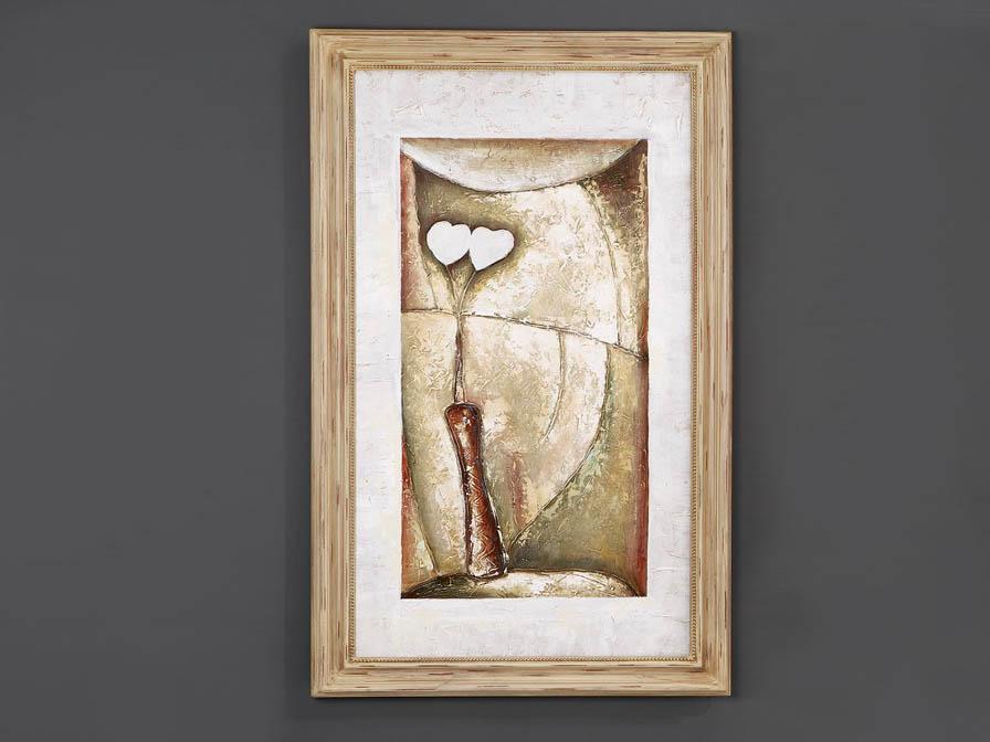 Oleo vase Abstrato II avec Cadre