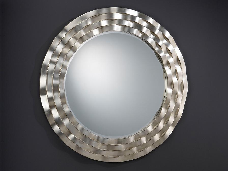 Ondas spiegel Runde Rahmen wellen Silberwaschpfanne