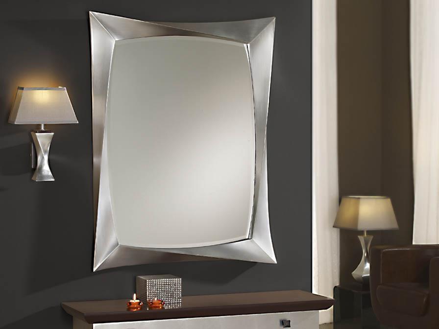 Deco miroir rectangulaire 85x112x5cm Feuille d´argent âgé