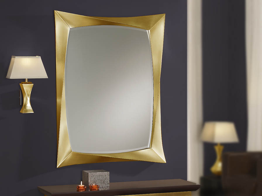 rectangular mirror Gold Leaf aged