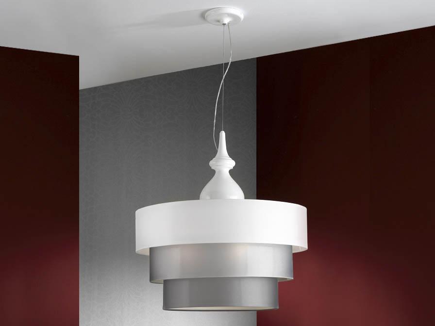 Sophia Pendant Lamp 3L white + lampshade 3 floors