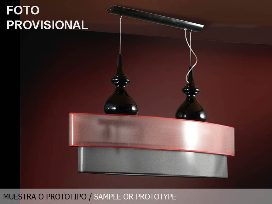 Sophia Pendant Lamp 4L Black + lampshade ovalada dimmable MU (Tara exposición)
