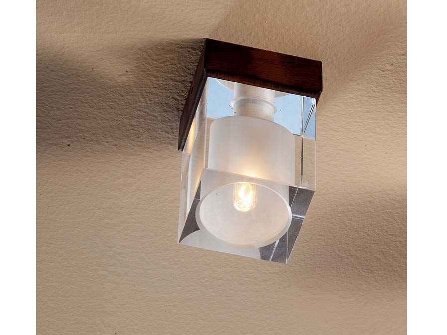 Hielo ceiling lamp 1L oxide forge