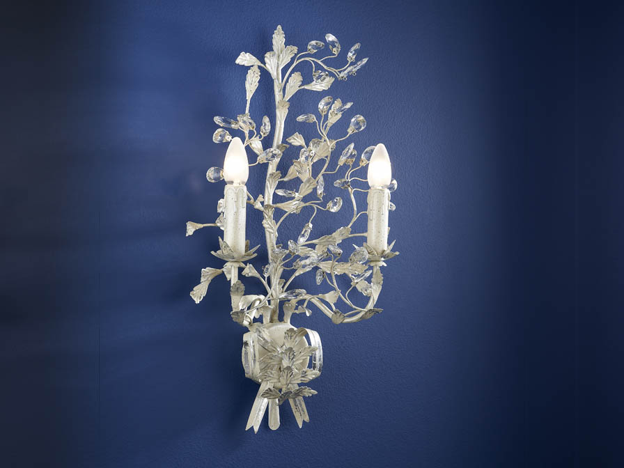 Verdi Wall Lamp Florentino 2L E14 without lampshade white Roto
