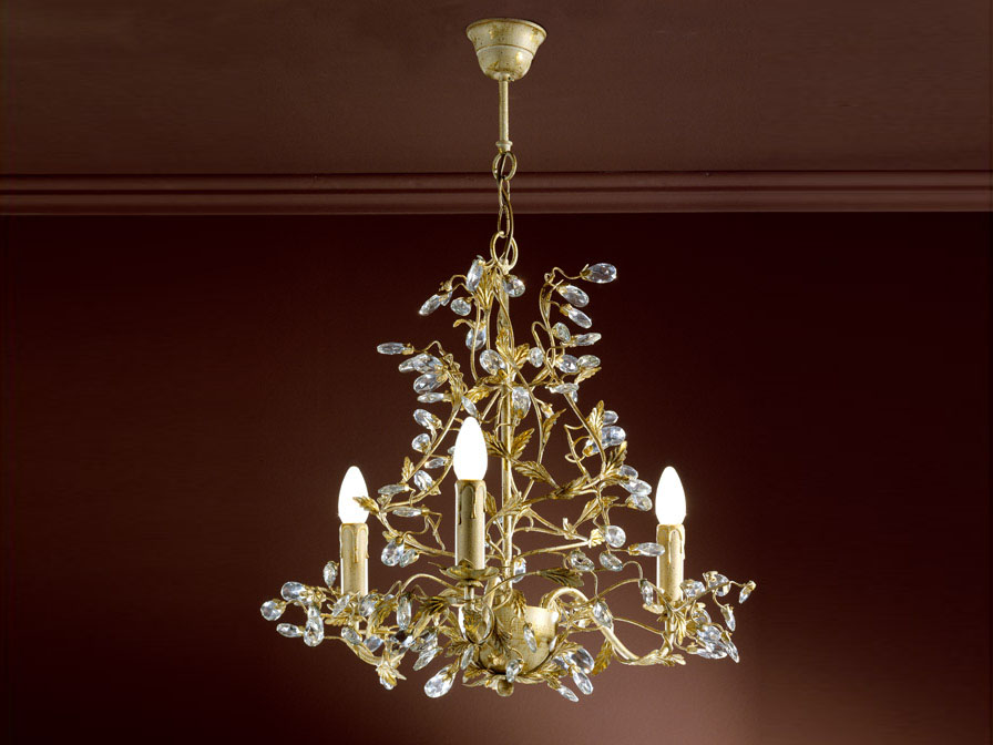 Verdi Pendant Lamp 3L E14 without lampshade Ivory Gold