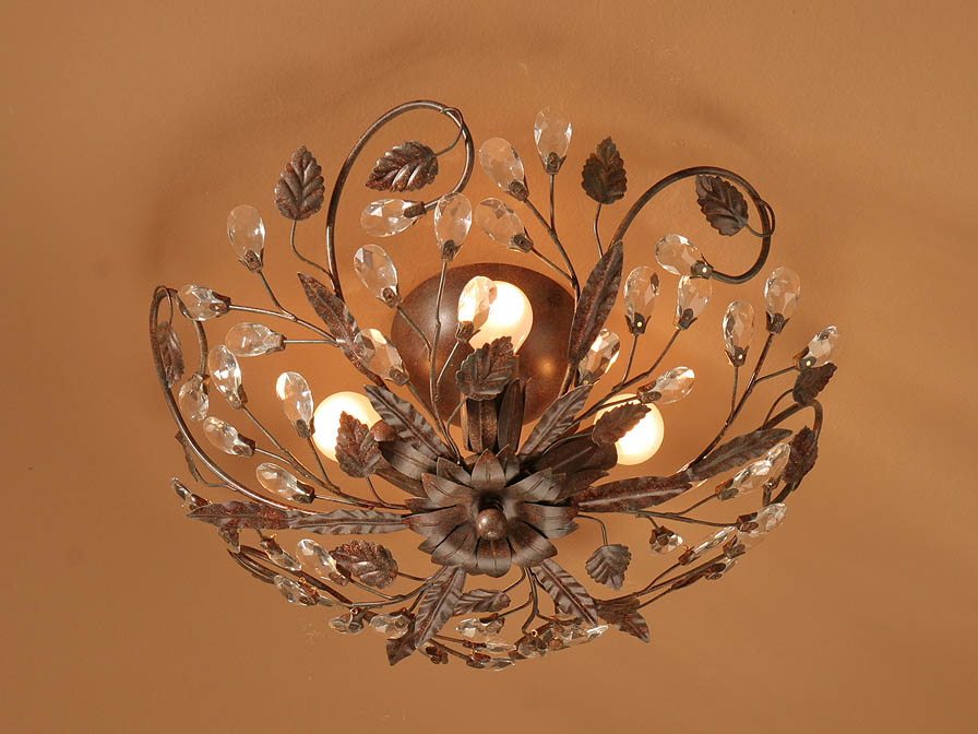 Verdi ceiling lamp 4L E14 Brown Oxide
