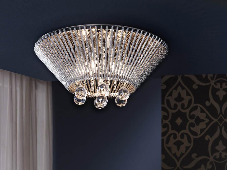 Medea ceiling lamp 7L Chrome