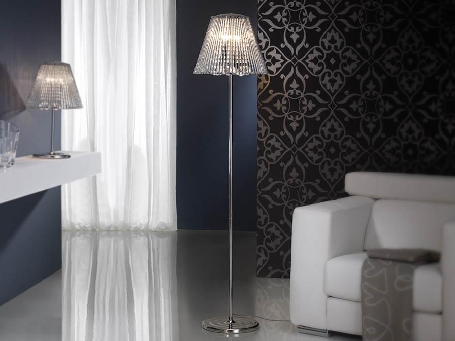 Medea lámpara de Lampadaire 4L Chrome