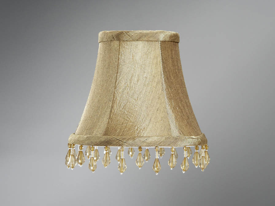Accessory lampshade pin round Beige/fringe